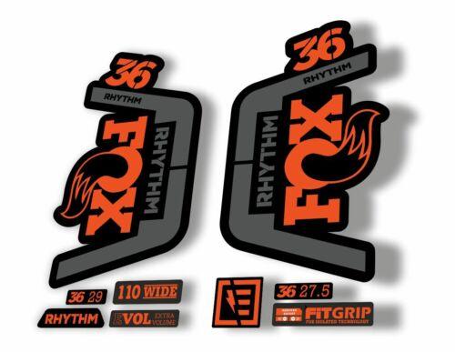 FOX 36 Rhythm 2019 Forks Suspension Factory Decal Sticker Adhesive Orange Gray
