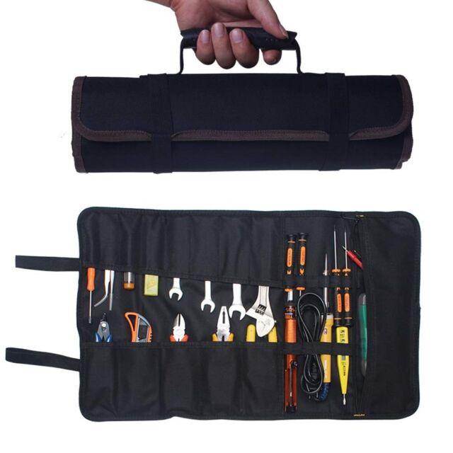Worker Wrench Bag Tool Roll Storage Pocket Pouch Case Organizer Holder