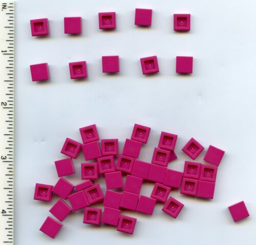 LEGO x 50 Magenta Tile 1 x 1 with Groove NEW bulk lot pink Friends