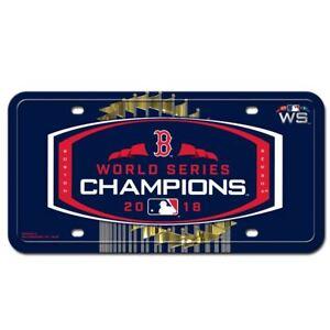 Boston Red Sox 2018 World Series Champs Metal Car License Plate ... 78a9fe23db1e