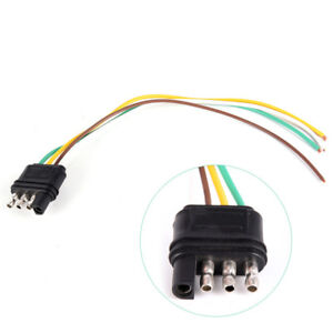 Outstanding Trailer Light Wiring Harness Extension 4 Pins Plug Wire Connector Wiring Digital Resources Remcakbiperorg
