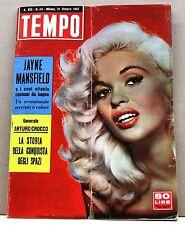 TEMPO - ANNO XIX N.44 - 31 OTTOBRE 1957 - rivista, jayne mansfield, crocco -