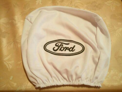 Pcs 2x Branco Universal Encosto De Cabeça Capas Para Ford