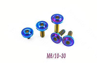 4Pcs Titanium  M6 *10-90mm Disc Dish Shape Head Bolts Torx Screws for Motorcycle