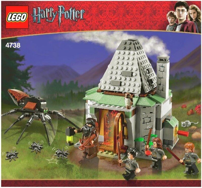 LEGO HARRY POTTER HAGRID'S HUT 4738 ALL FIGURES ARAGOG 100% COMPLETE GUARANTEE