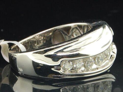 MEN/'S 14K White Gold Finish Round Cut Diamond Engagement Wedding Band New!!