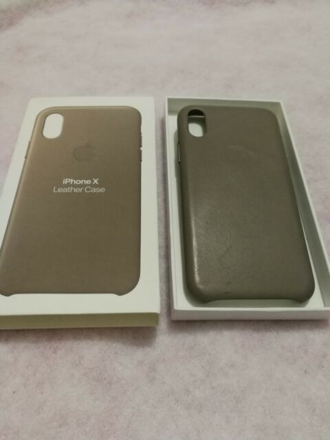 new products 59977 39ab4 Apple iPhone X Leather Case - Taupe