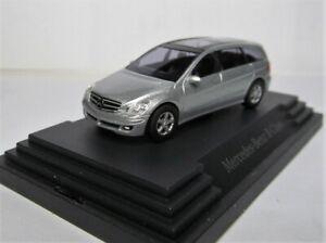 Busch 1:87 Mercedes Benz R Klasse W251 OVP silbermetallic Werbemodell