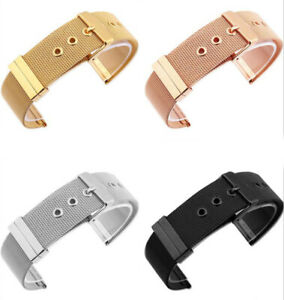 Stainless-Steel-Bracelet-Wrist-Mesh-Link-Buckle-Watch-Band-Strap-18-20-22-24mm