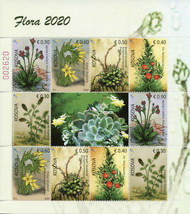 Details about  Kosovo Flowers Stamps 2020 MNH Flora Plants & Nature 10v M/S