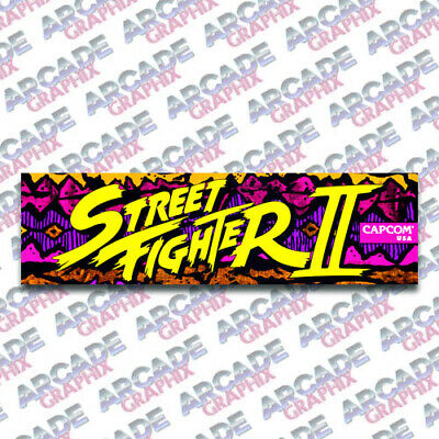 Arcade1up Cabinet Street Fighter Ii 2 Arcade Game Marquee Graphic