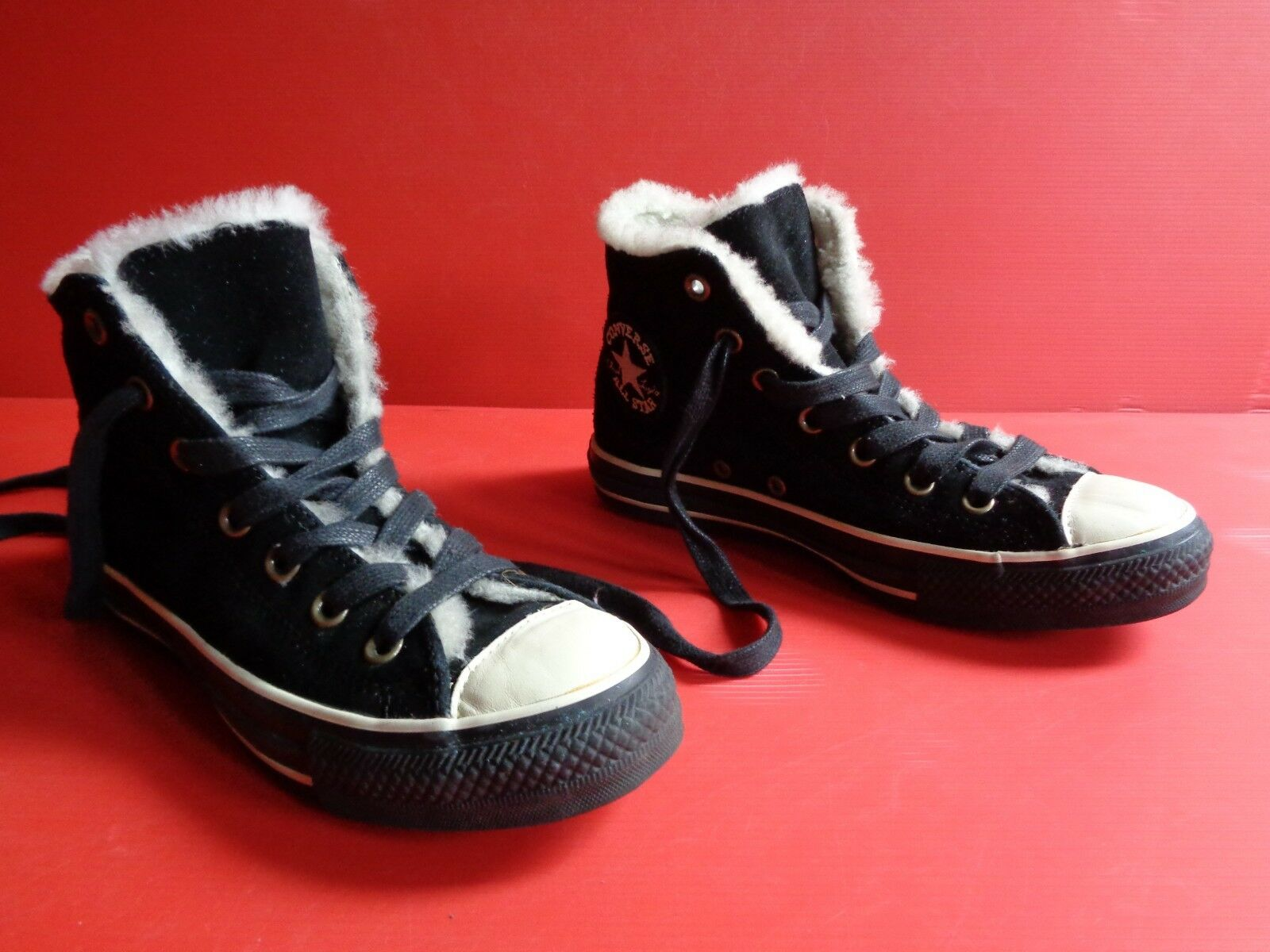 Converse Chucks All (UK5) Star Wildleder schwarz gefüttert Gr.37½ (UK5) All Nr.16 unisex bb6816