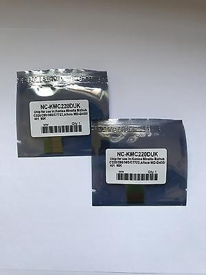 BCMY 25 x Drum Reset Chips For Konica Minolta Bizhub C224 C284 C364 C454 C554