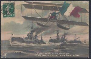 33139) francia Fauvette artistas foto ak avión barcos biplano 1913