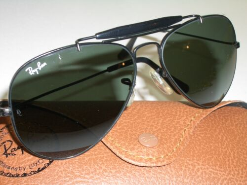 1980's 58[]14mm VINTAGE B&L RAY BAN BLACK G15 OUTD