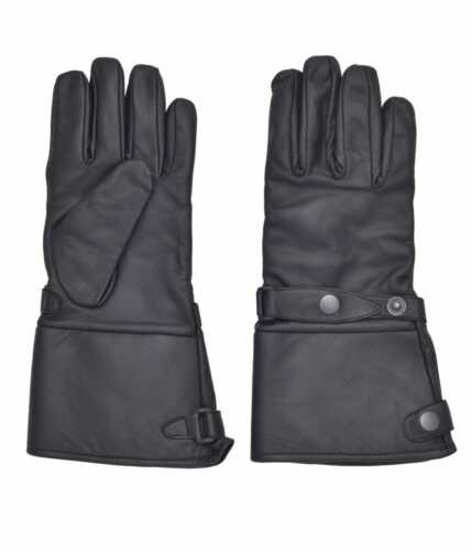 Details about  /Tennessee Leather Mens Black Leather Motorcycle Biker Gloves With RainCover 1806