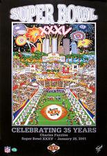Super Bowl XXXV (Tampa 2001) Official NFL Football Pop Art POSTER by Fazzino