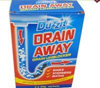 Duzzit Drain Away Drain Unblocker Suitable For Sinks, Showers, Baths