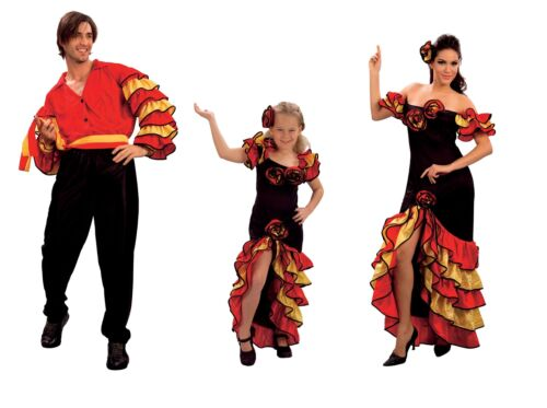 Rumba Child Adult Fancy Dress Spanish Party Costume All Size