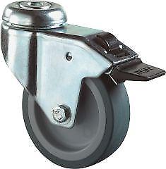 Lenkrolle fest 75mm Lg.GStahlbl verz Gummirad10,2 E/D/E Logistik-Cente