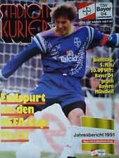 Programm 1991/92 Bayer 04 Leverkusen - Bayern München