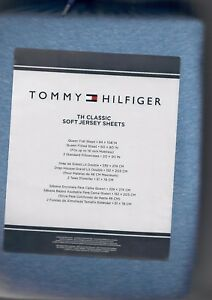 Image Is Loading Tommy Hilfiger Th Clic Soft Jersey Sheets Blue