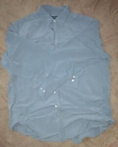 DKNY-Long-sleeve-Shirt-blue-Mens-size-XL