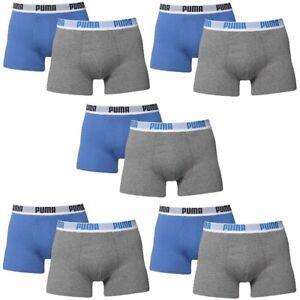 10 er Pack Puma Boxer shorts blau grau Größe XL Herren