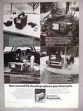 Panasonic Portable TV Television PRINT AD - 1977 ~~ The Outsiders