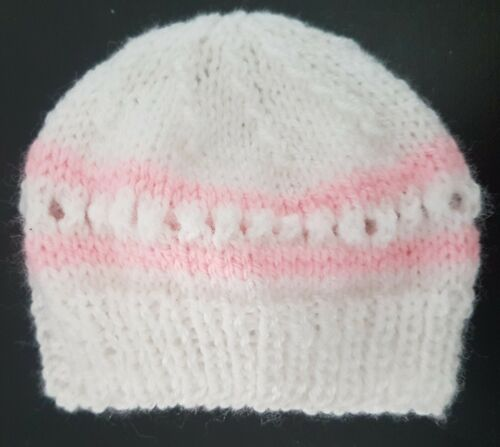 Hand Knitted Premature Baby Hat