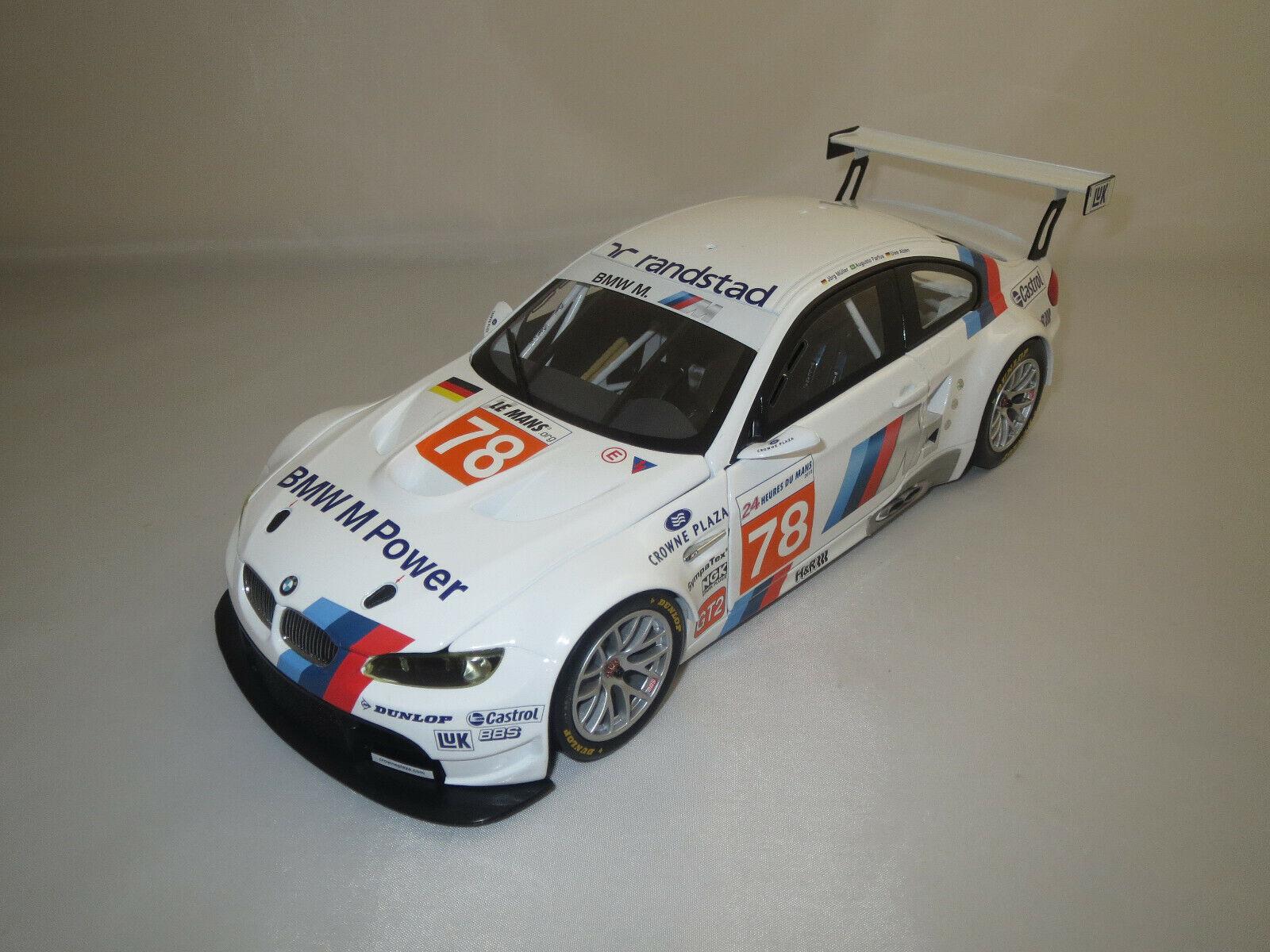 MINICHAMPS BMW m3 gt2  Mueller  Farfus Alzen  (Le Mans 2010  78) 1 18 neuf dans sa boîte  prix de gros