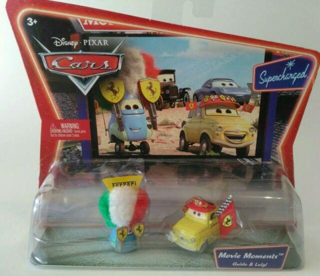 The World of Cars Movie Doubles Guido /& Ferrari Fan Guido Diecast Car 2-Pack