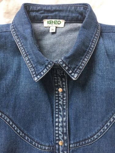 Denim Gr jeanshemd Bluse Top 36 Blau Kenzo S n6PxpFW