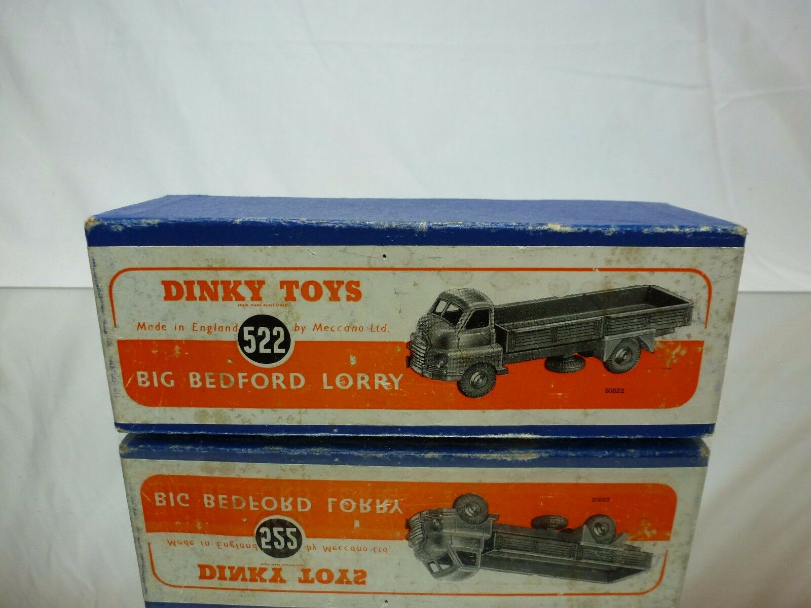 DINKY TOYS 522 ORIGINAL BOX for BIG BEDFORD LORRY - blueeE - ONLY BOX