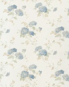 PR33859-Blumenmotiven-2-Blumenmuster-Blau-amp-Creme-Galerie-Tapete