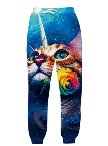Animal Cat 3d Print Mens//Womens Casual Pants Jogging Sweatpants Long Trousers