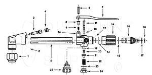 HARRIS MODEL 72-3 CUTTING TORCH BASIC REBUILD REPAIR KIT AH72-3RK