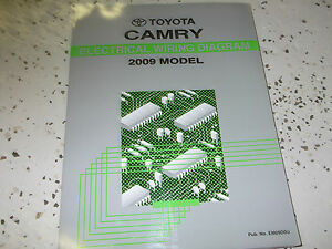 2009 toyota camry electrical wiring diagram troubleshooting ewd shop rh ebay com