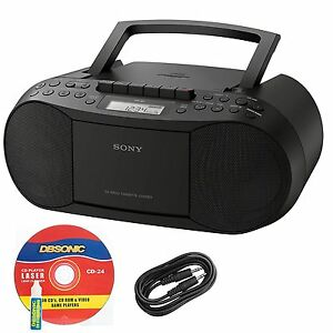 SONY-CD-AM-FM-Radio-MP3-Cassette-Recorder-Stereo-BOOMBOX-with-Aux-Audio-Input