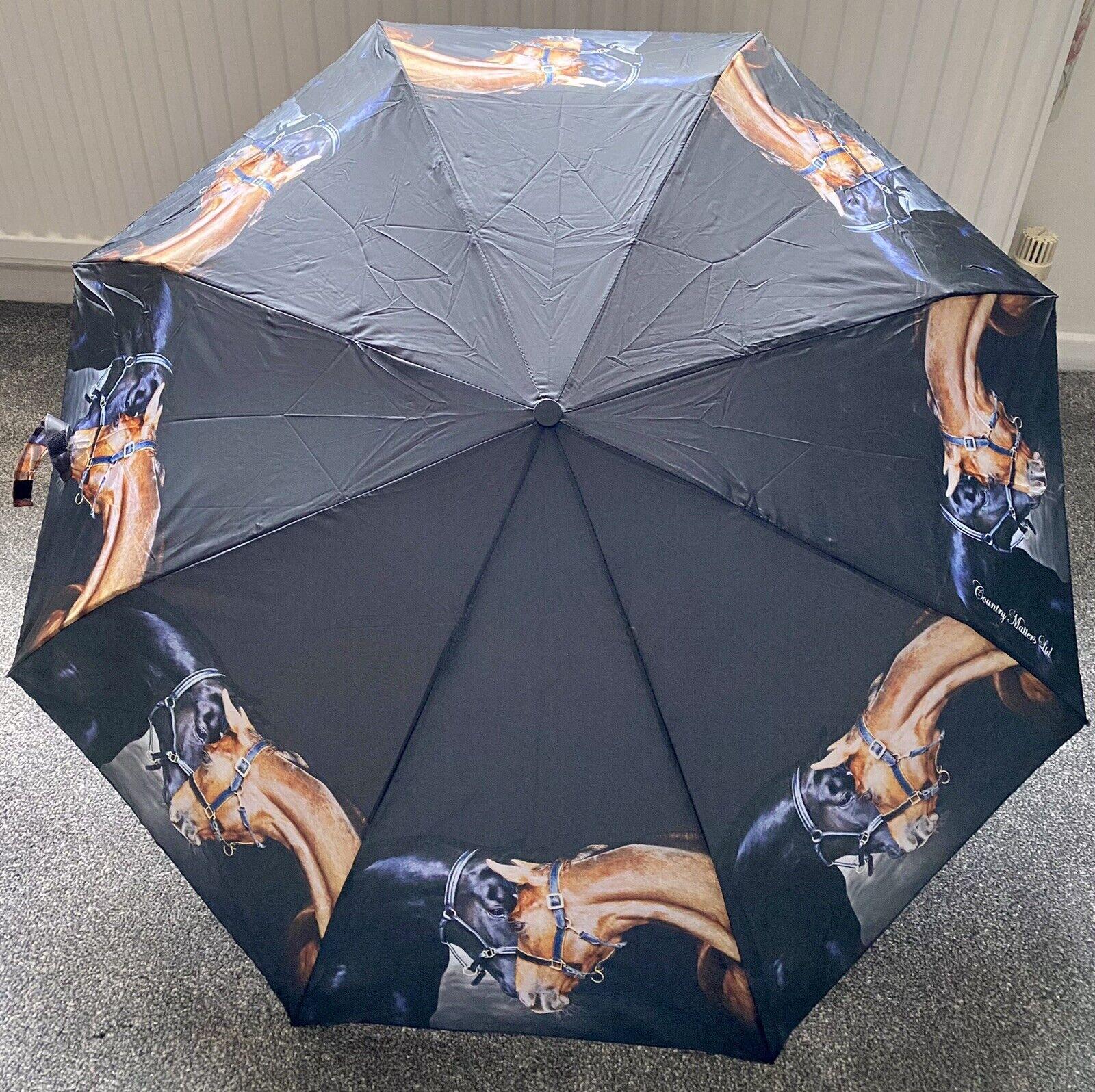 """Horses """"Old Friends"""" Folding Umbrella"""