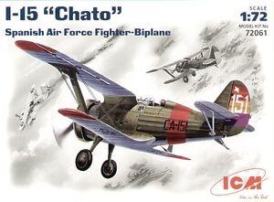 ICM 1/72 Polikarpov I-15 Chato Spanish Air Force # 72061