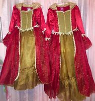 Disney Store Belle Costume Deluxe Gown Holiday Princess Beauty & Beast Small 5 6