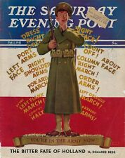 Feb 1,1941 Saturday Evening Post Magazine Cover - You're In The Army Now