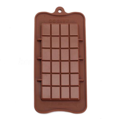 3 Pcs//lot Silicone Mould 24 Grids Square Ice Chocolate Mold Bar Block Cake Decor