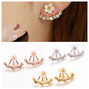 Small Daisy Flower Ear Stud Korean Imitation Pearl Earrings Rose