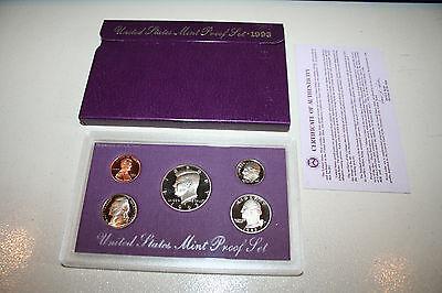 1993 US Coin Proof Set Kennedy Half Dollar Gift Birth Year Free Shipping 9290000