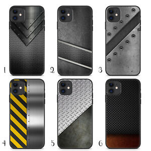 Handyhuelle-Metall-fuer-iPhone-Apple-Silikon-Silber-Rost-Karbon-Tuning-Carbon