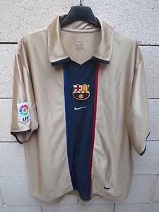 VINTAGE-Maillot-BARCELONE-BARCELONA-camiseta-n-7-annees-90-NIKE-shirt-LFP-L-or