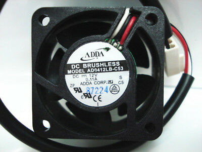 FOR ADDA 4020 12V 0.11A AD0412LB-C52 double ball cooling fan