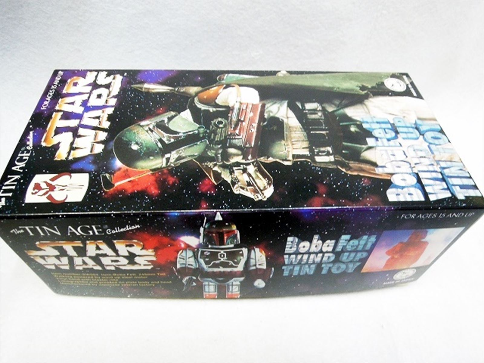 Star Wars Boba Fett Wind  Up Tin Toy from Japan EMS F S  grande remise